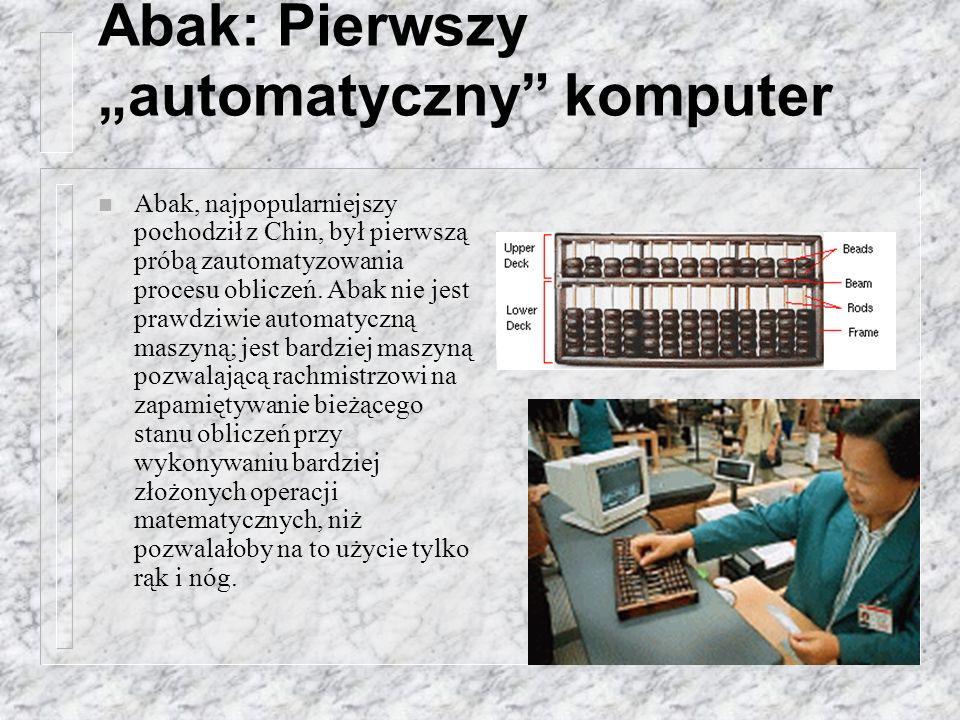 """Abak: Pierwszy """"automatyczny komputer"""