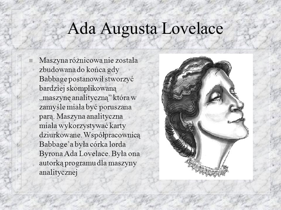 Ada Augusta Lovelace