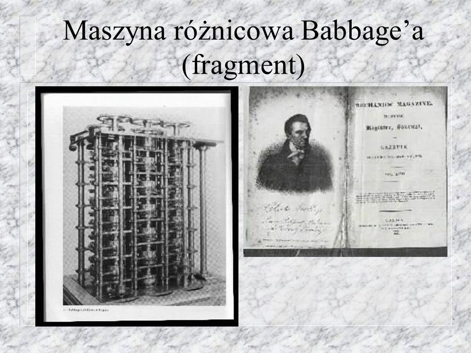 Maszyna różnicowa Babbage'a (fragment)