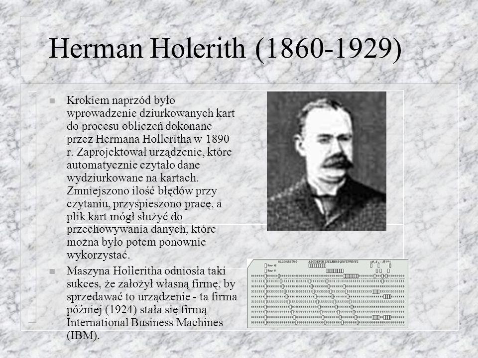 Herman Holerith (1860-1929)