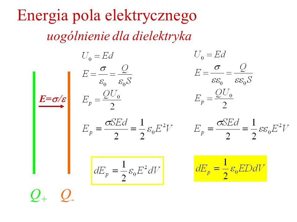 Energia pola elektrycznego uogólnienie dla dielektryka