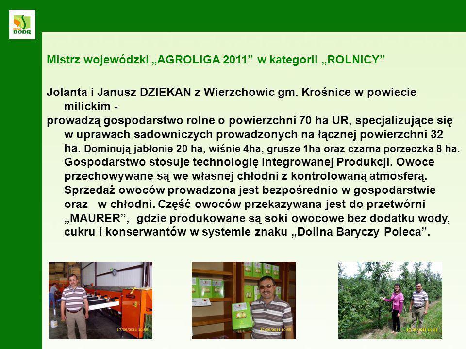 """Mistrz wojewódzki """"AGROLIGA 2011 w kategorii """"ROLNICY"""