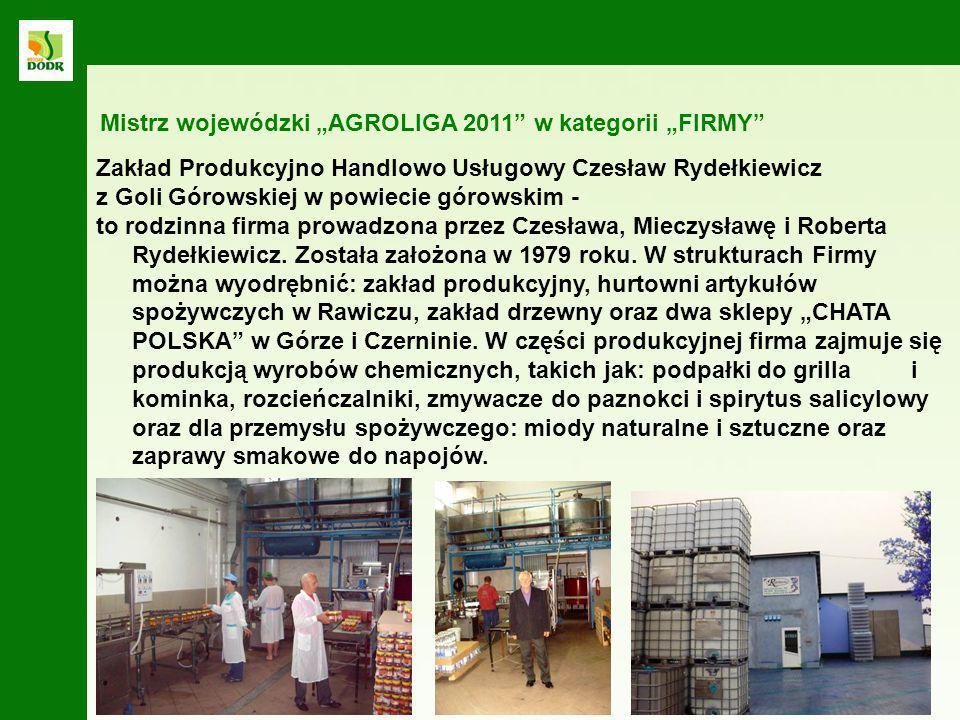 """Mistrz wojewódzki """"AGROLIGA 2011 w kategorii """"FIRMY"""