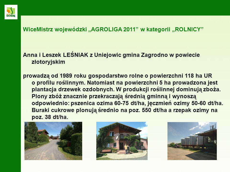 """WiceMistrz wojewódzki """"AGROLIGA 2011 w kategorii """"ROLNICY"""