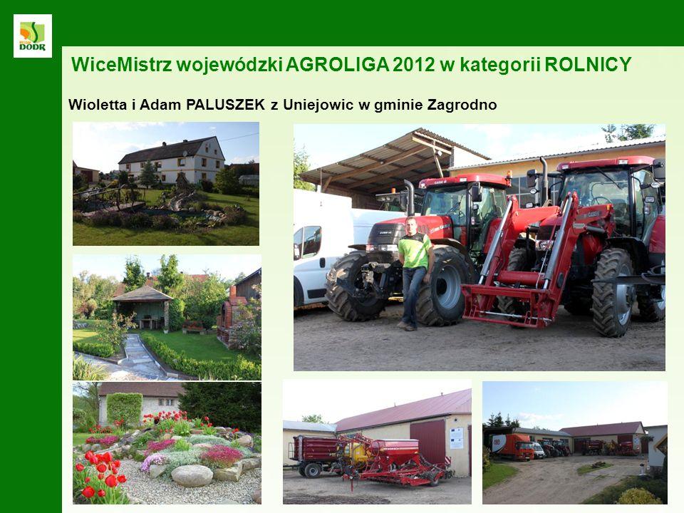 WiceMistrz wojewódzki AGROLIGA 2012 w kategorii ROLNICY