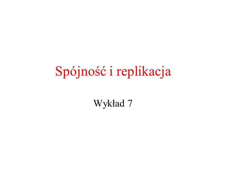 Spójność i replikacja Wykład 7