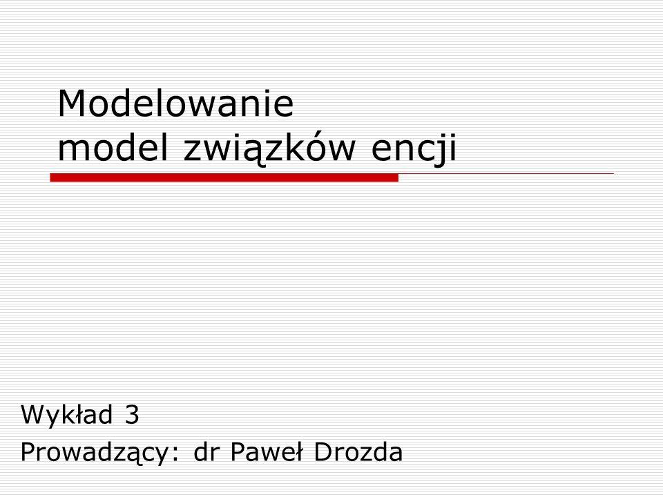 Modelowanie model związków encji
