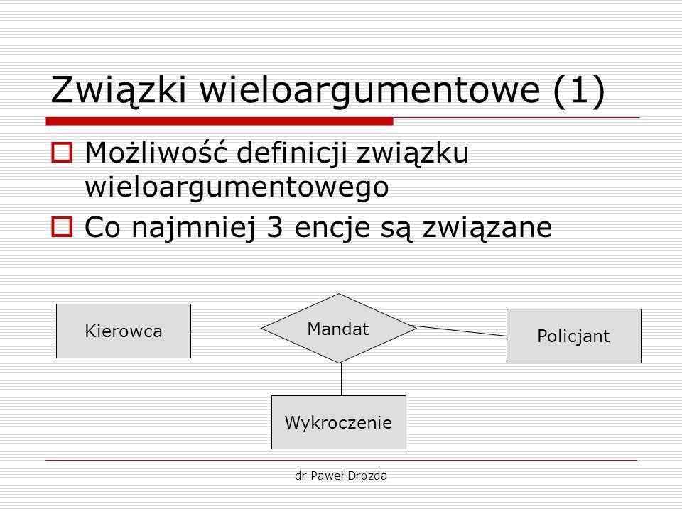 Związki wieloargumentowe (1)