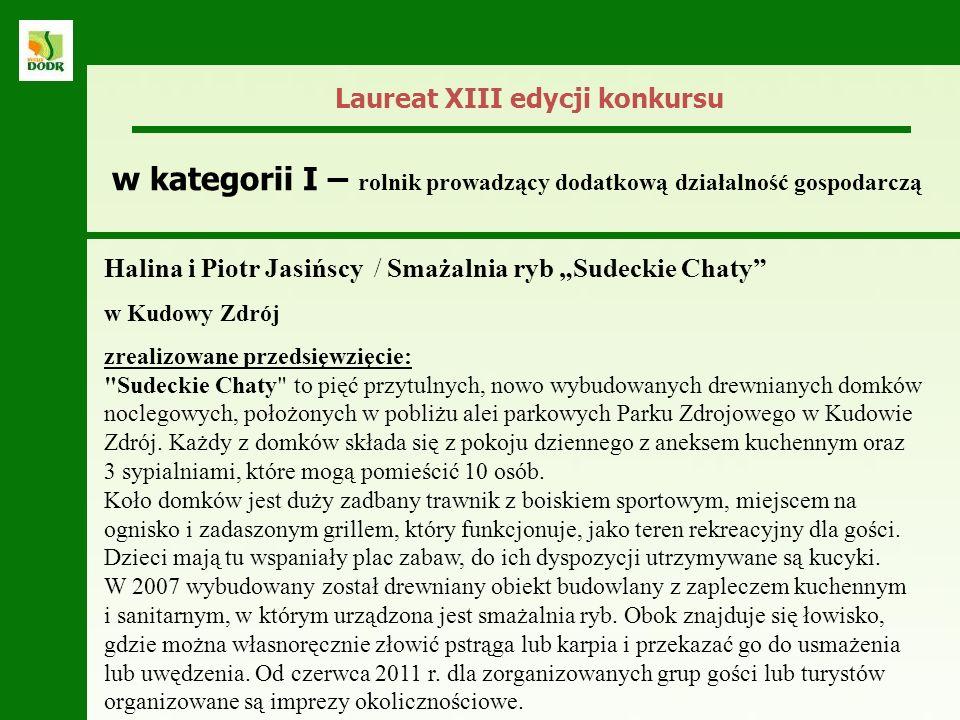 Laureat XIII edycji konkursu