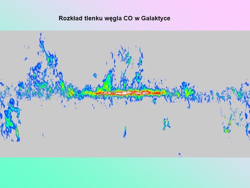 Rozkład tlenku węgla CO w Galaktyce