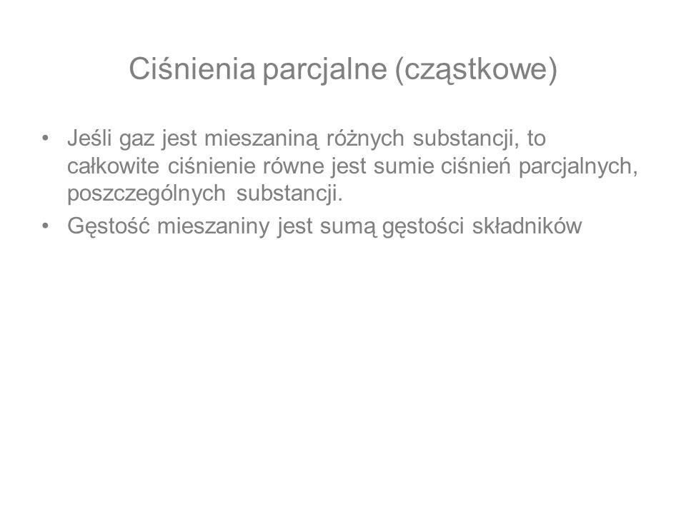 Ciśnienia parcjalne (cząstkowe)