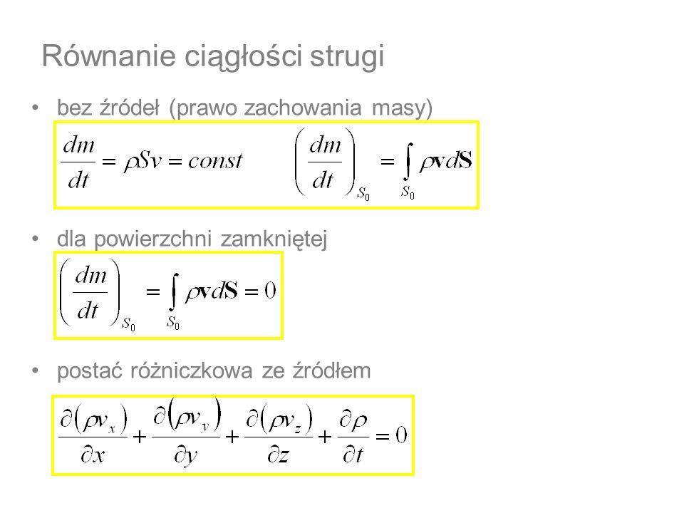 Równanie ciągłości strugi