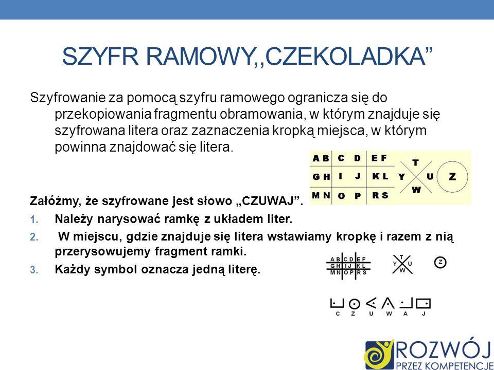 SZYFR RAMOWY,,CZEKOLADKA