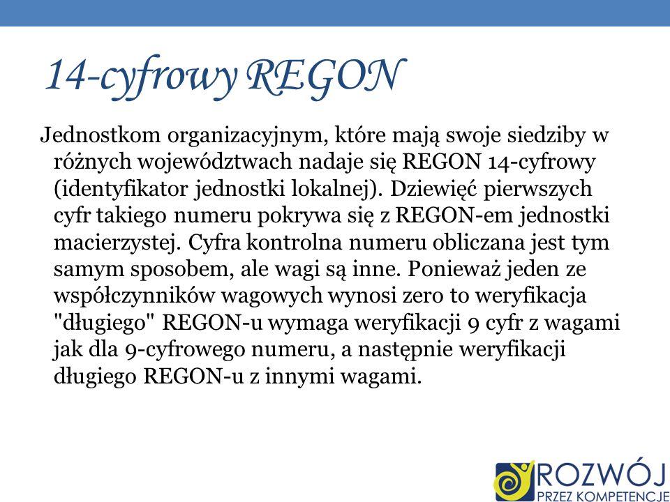 14-cyfrowy REGON