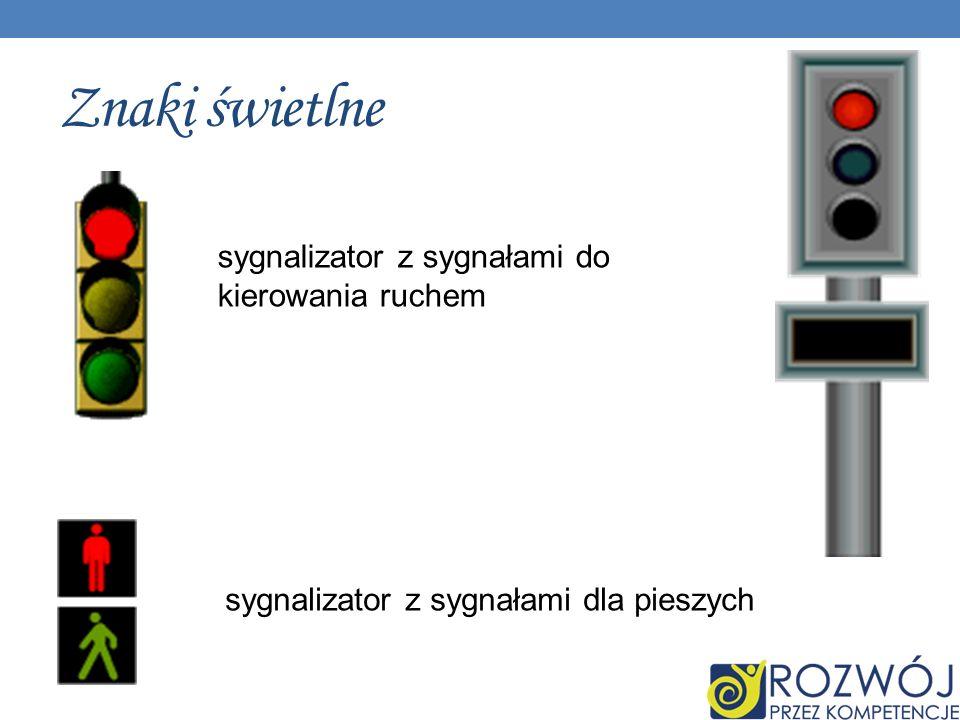 Znaki świetlne sygnalizator z sygnałami do kierowania ruchem