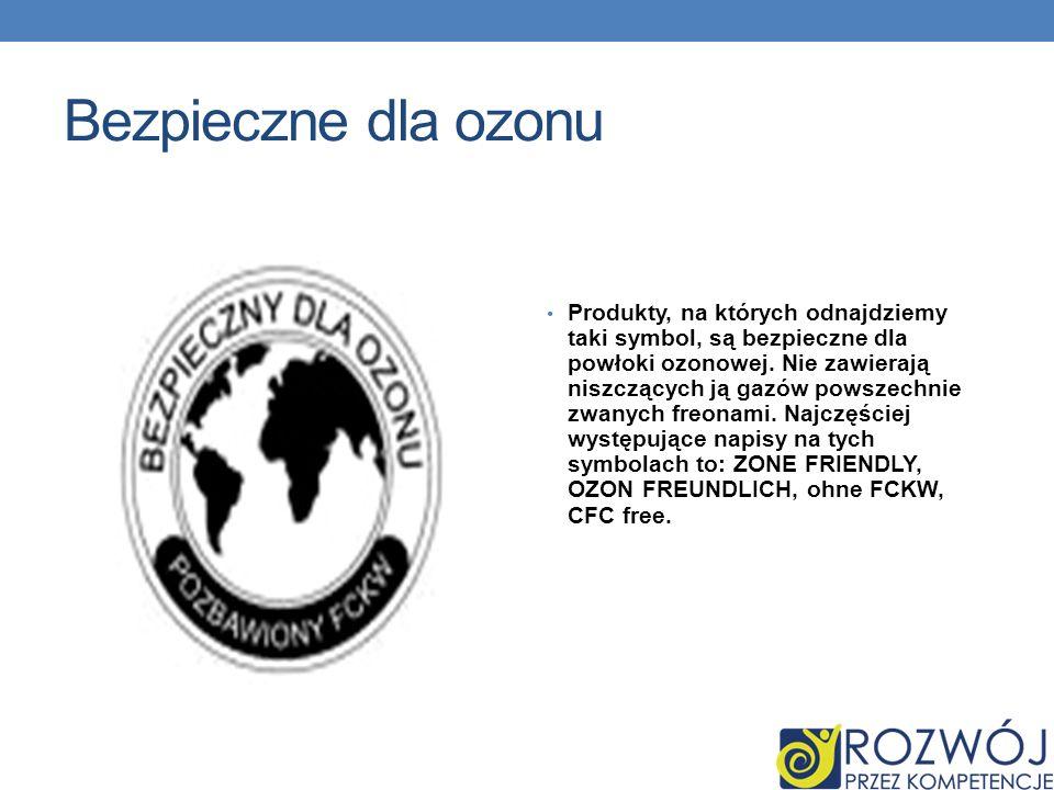 Bezpieczne dla ozonu