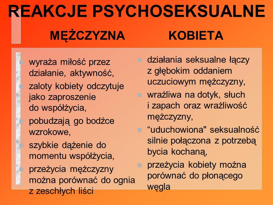REAKCJE PSYCHOSEKSUALNE MĘŻCZYZNA KOBIETA