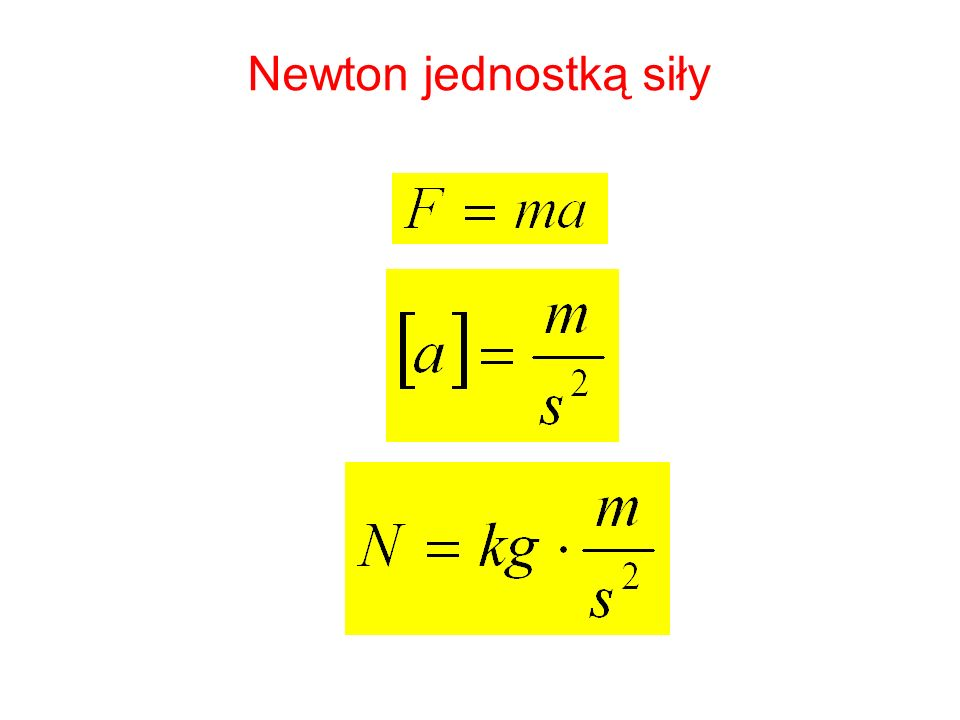Newton jednostką siły