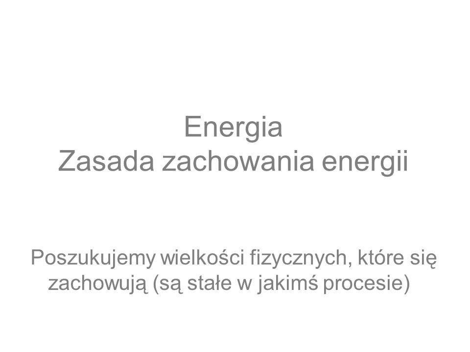 Energia Zasada zachowania energii