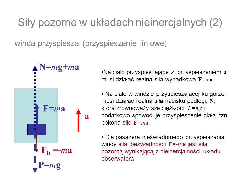 Siły pozorne w układach nieinercjalnych (2)