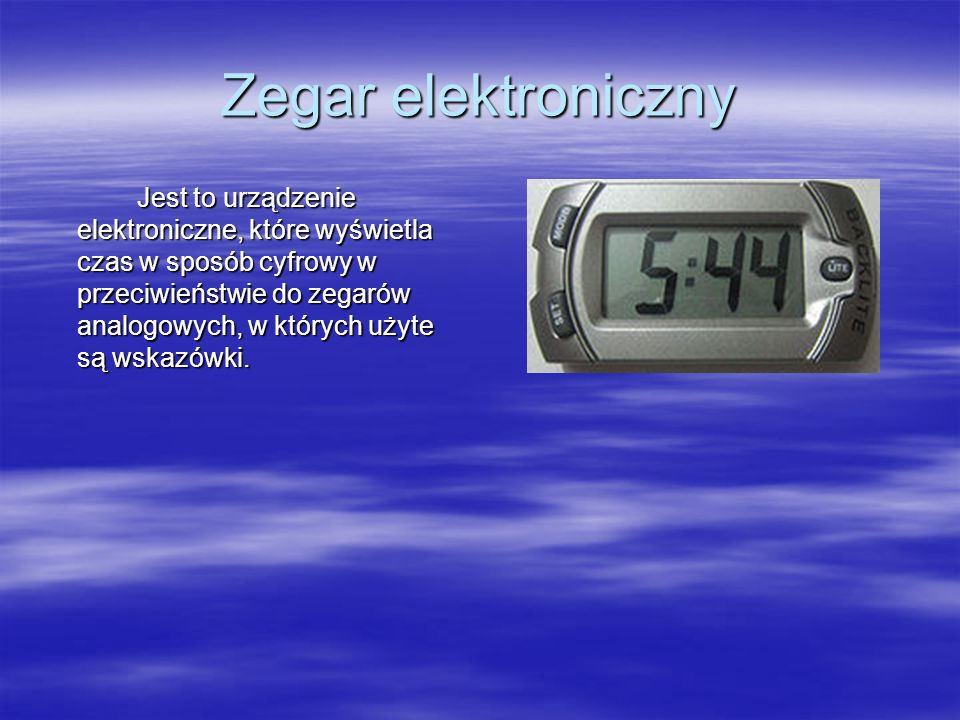 Zegar elektroniczny