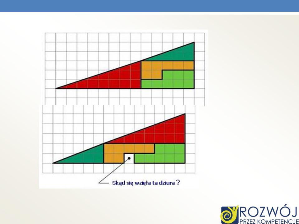 Górna figura geometryczna składa się z mniejszych figur