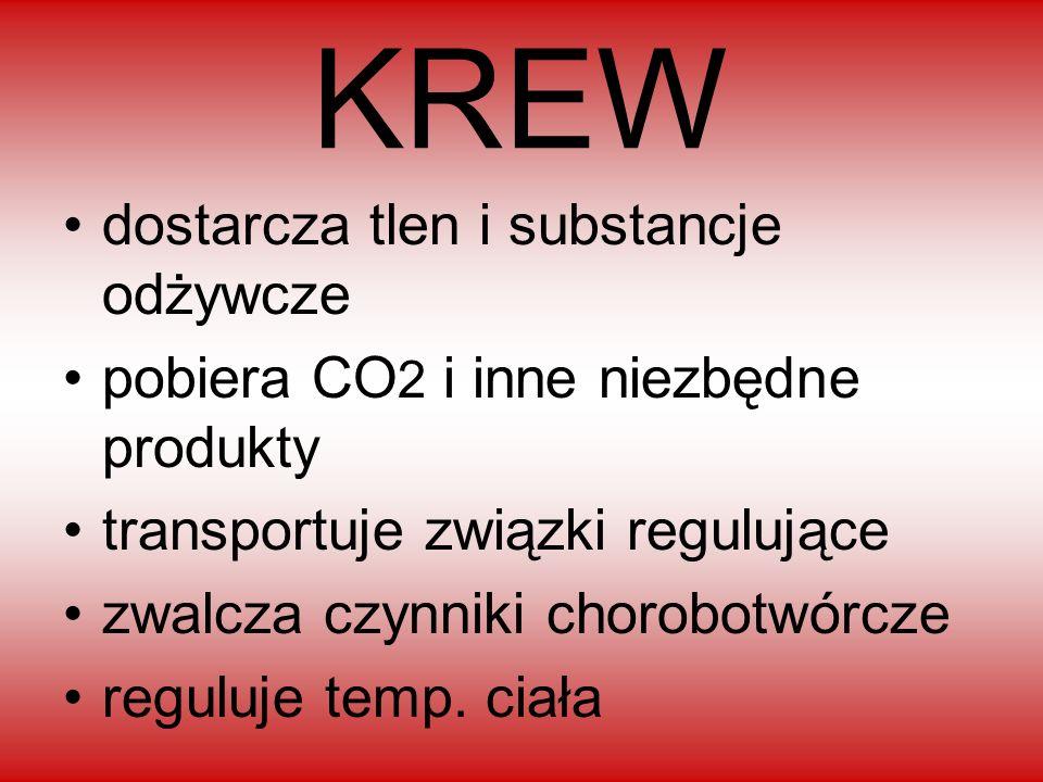 KREW dostarcza tlen i substancje odżywcze