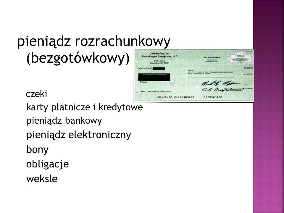 pieniądz rozrachunkowy (bezgotówkowy)