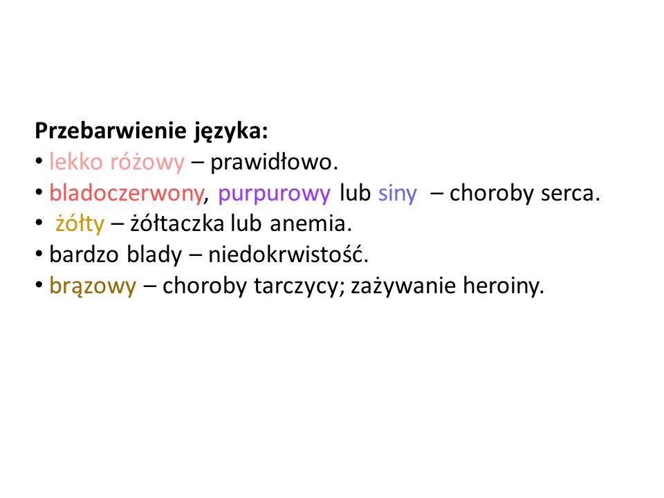 Przebarwienie języka: