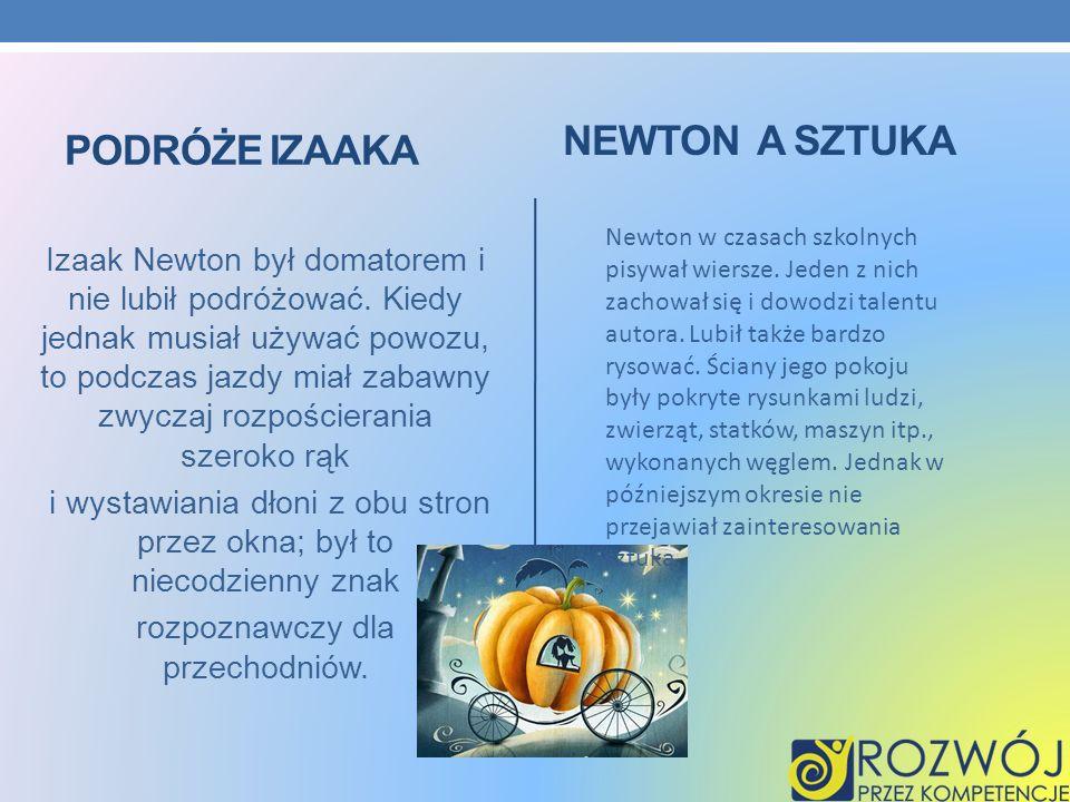 Newton a sztuka Podróże Izaaka