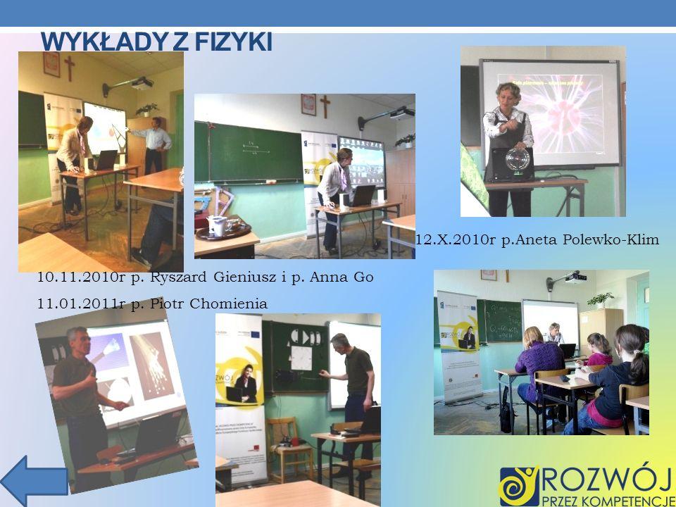 Wykłady z fizyki 12.X.2010r p.Aneta Polewko-Klim