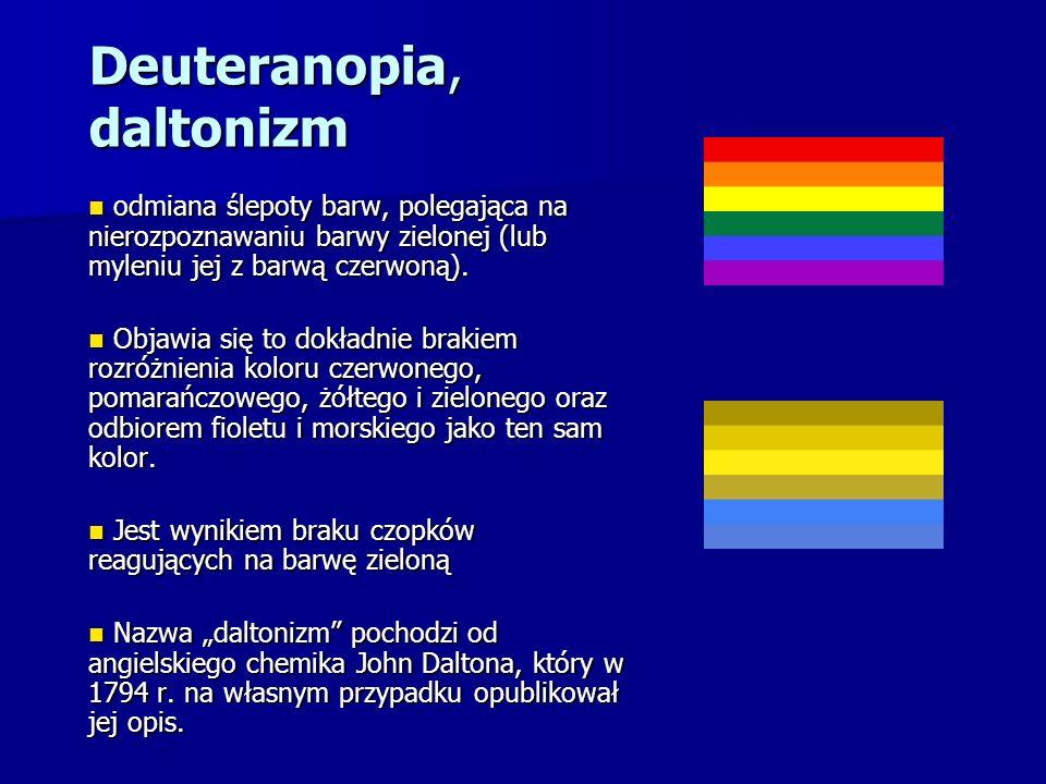 Deuteranopia, daltonizm