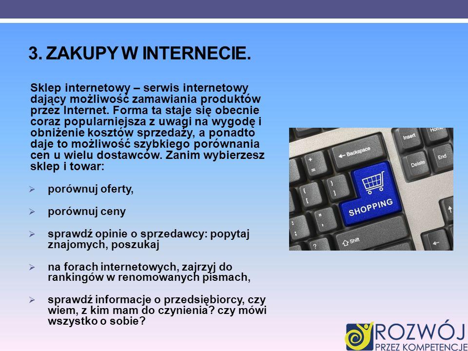 3. Zakupy w Internecie.