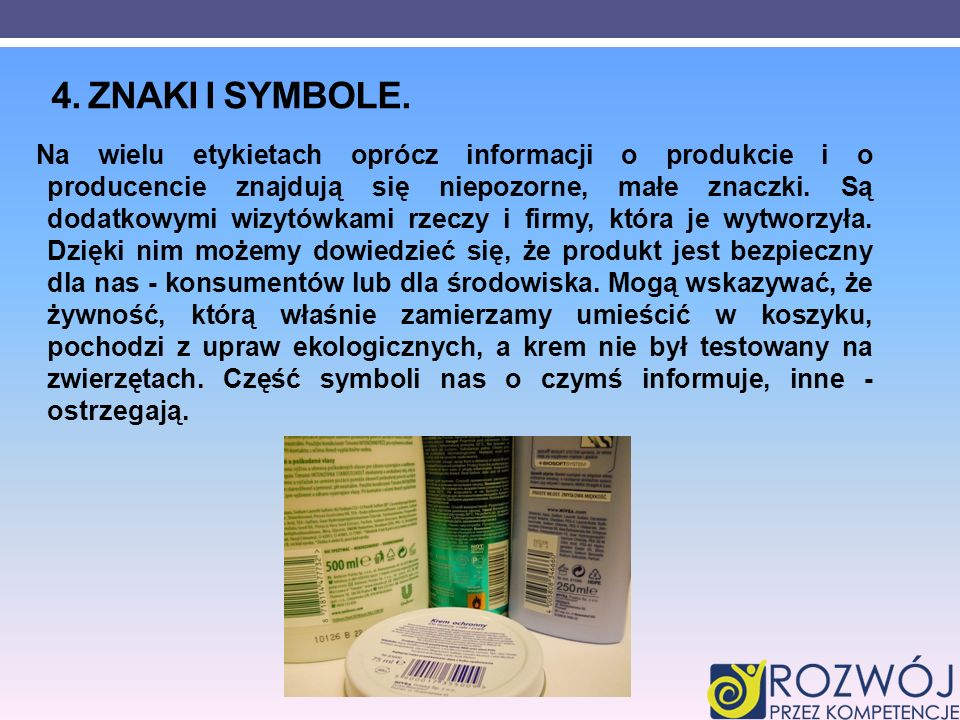 4. Znaki i symbole.