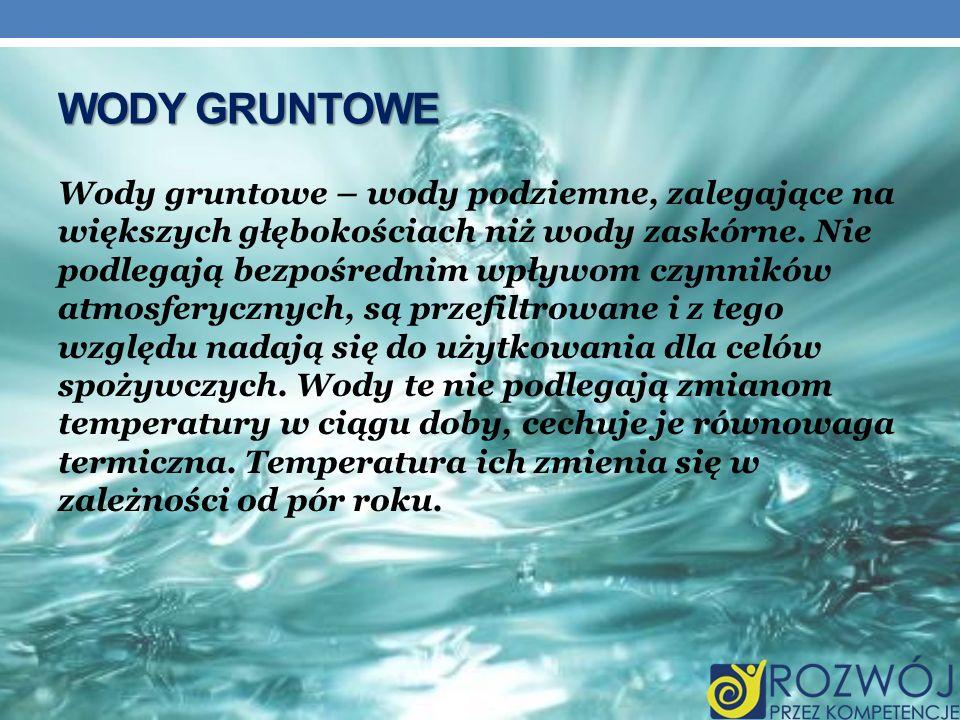 Wody gruntowe