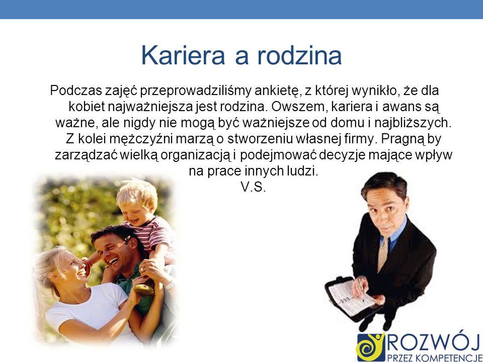 Kariera a rodzina