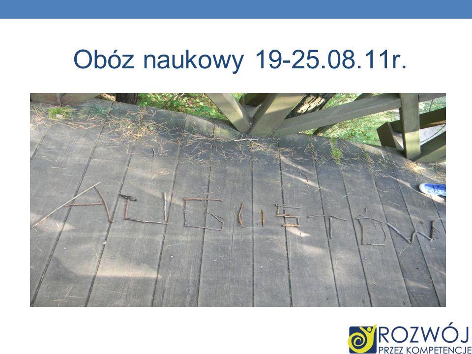 Obóz naukowy 19-25.08.11r.
