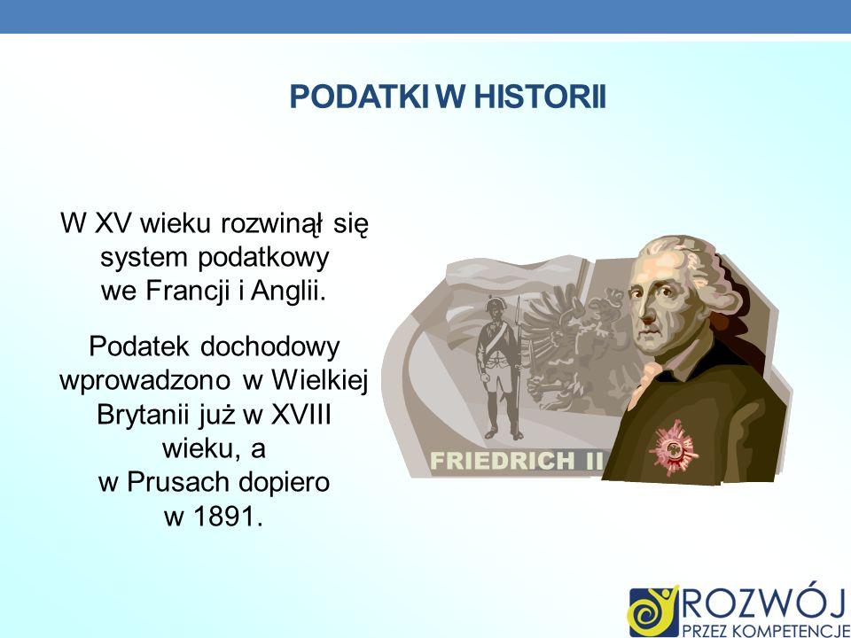 PODATKI W HISTORII