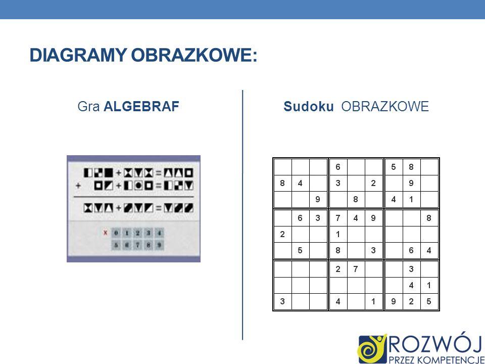 Diagramy obrazkowe: Gra ALGEBRAF Sudoku OBRAZKOWE