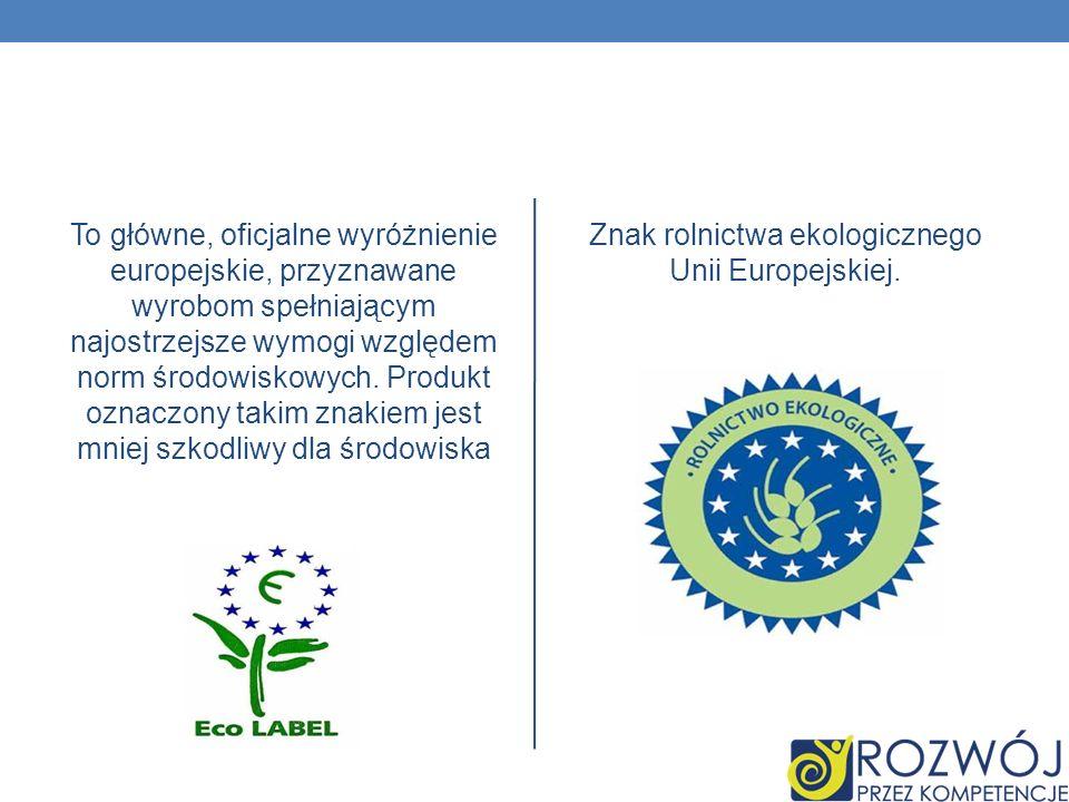 Znak rolnictwa ekologicznego Unii Europejskiej.