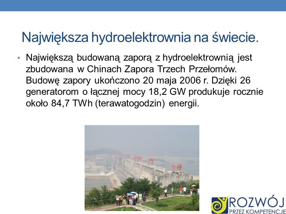 Największa hydroelektrownia na świecie.