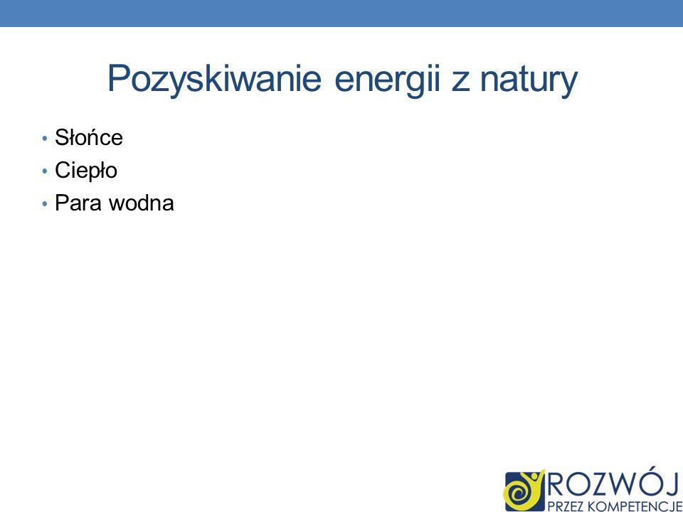 Pozyskiwanie energii z natury