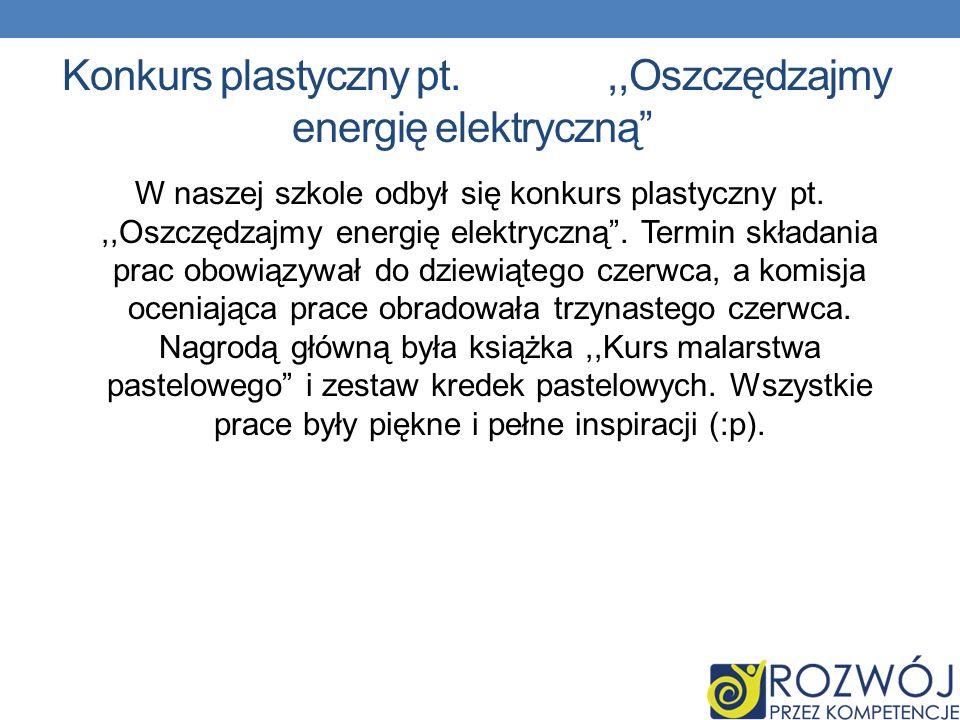 Konkurs plastyczny pt. ,,Oszczędzajmy energię elektryczną