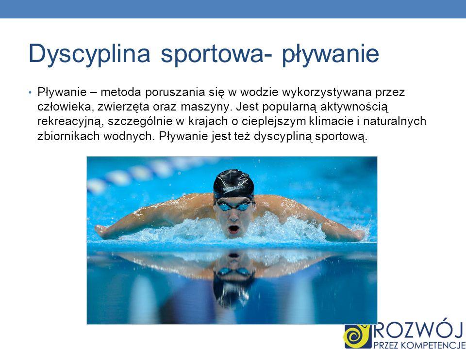 Dyscyplina sportowa- pływanie
