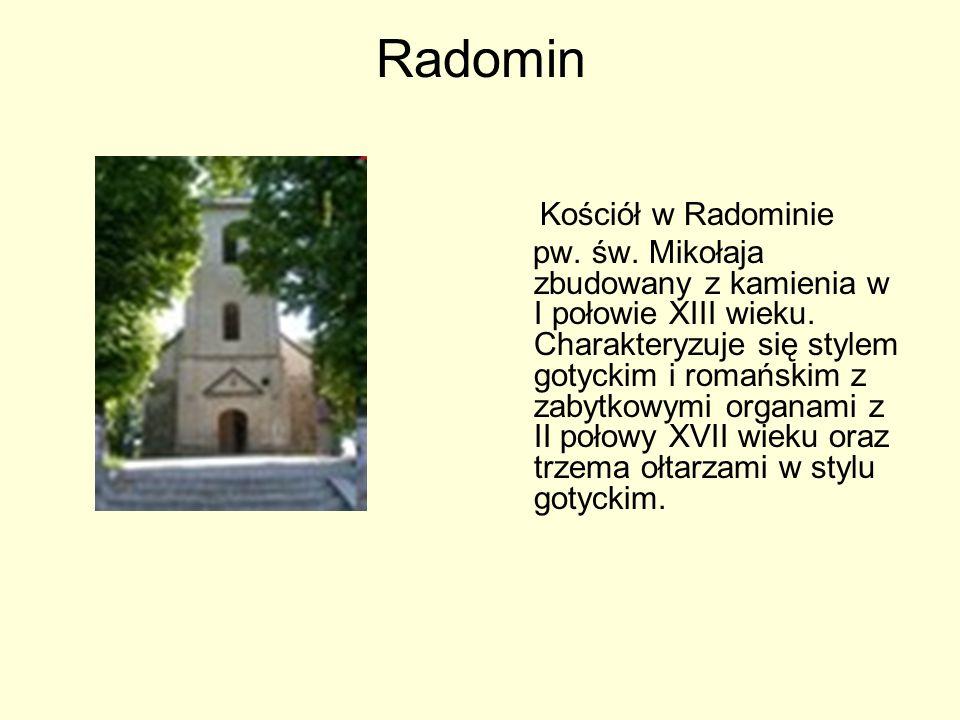 Radomin Kościół w Radominie.
