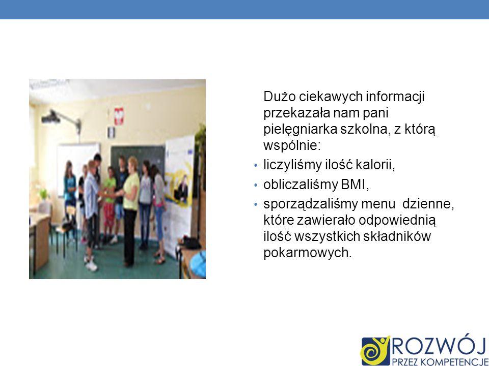 Dużo ciekawych informacji przekazała nam pani pielęgniarka szkolna, z którą wspólnie: