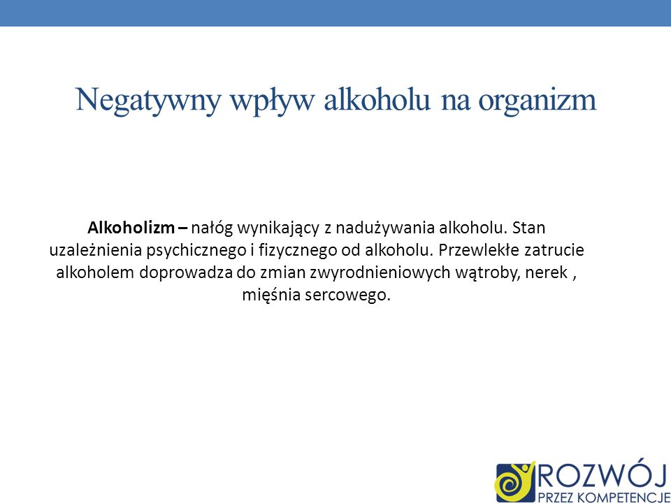 Negatywny wpływ alkoholu na organizm