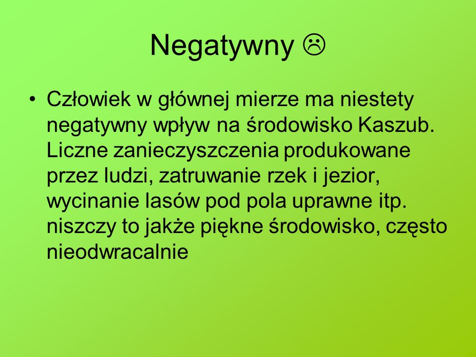 Negatywny 