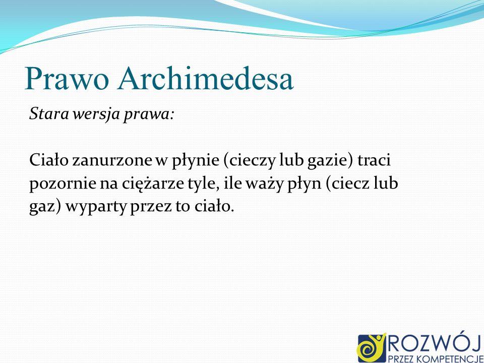 Prawo Archimedesa