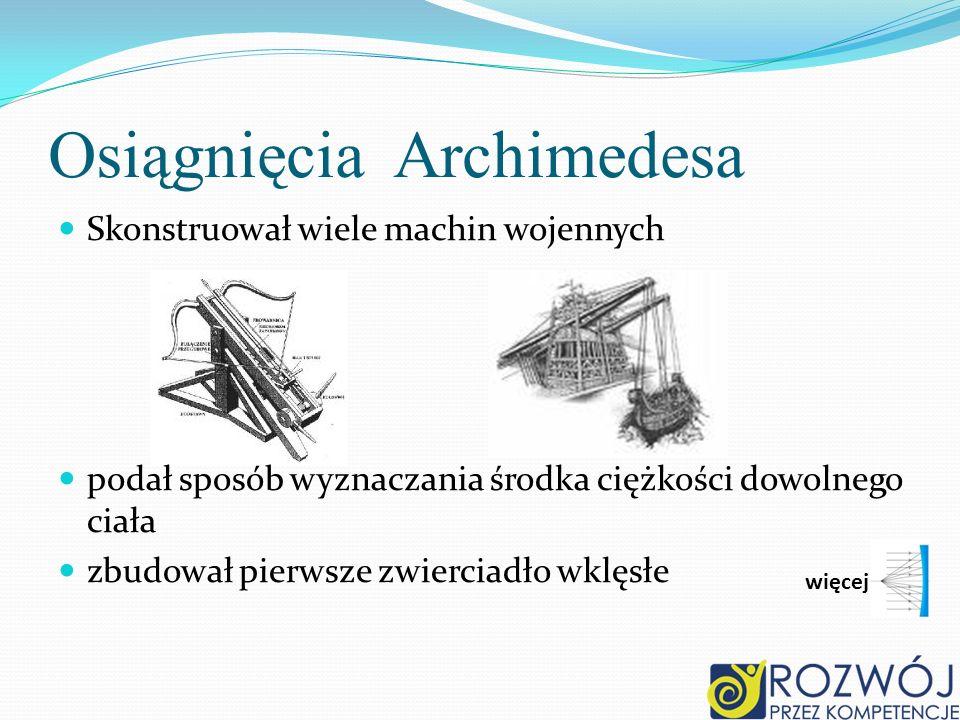 Osiągnięcia Archimedesa